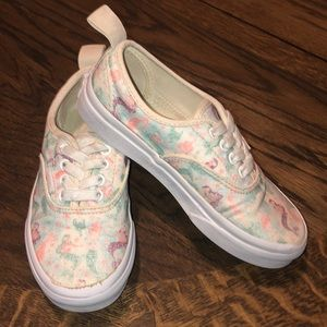 Girls Vans mermaid elastic lace slip on sz 13